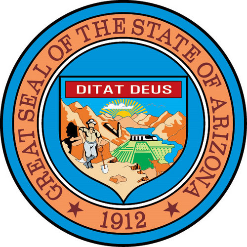 Arizona State Seal Mining Agriculture and Hoover Dam