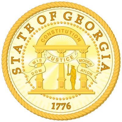 Georgia State Seal Gold 1776