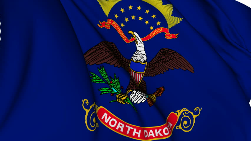 North Dakota State Flag Sun Stars Eagle and Shield