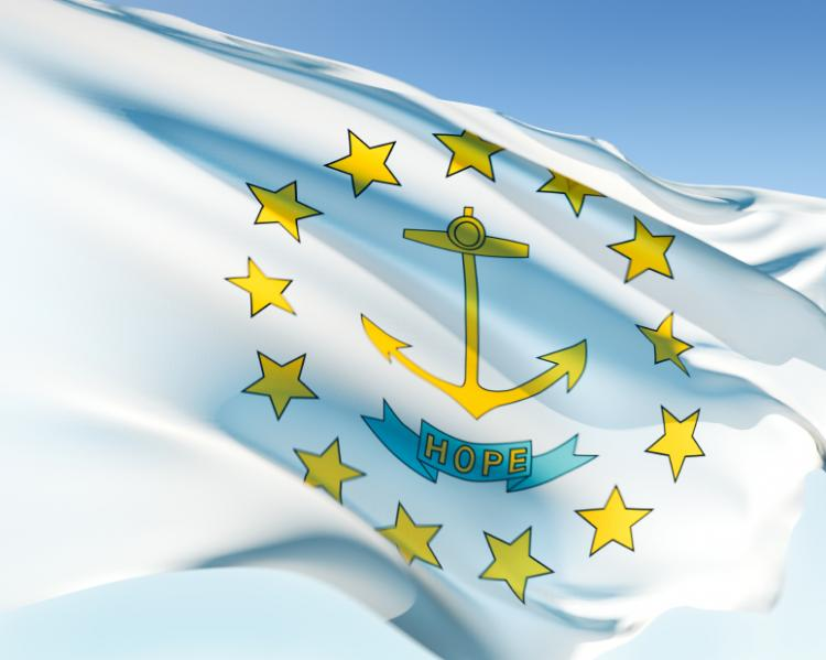 Rhode Island State Flag Stars Anchor and Hope