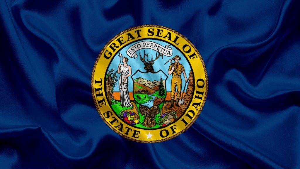 Idaho State Flag Liberty Mining Wildlife and Bounty