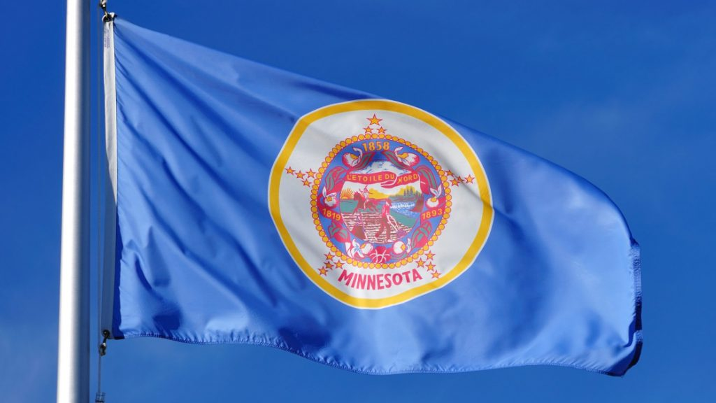 Minnesota State Flag Solid Blue with State Seal in the Center