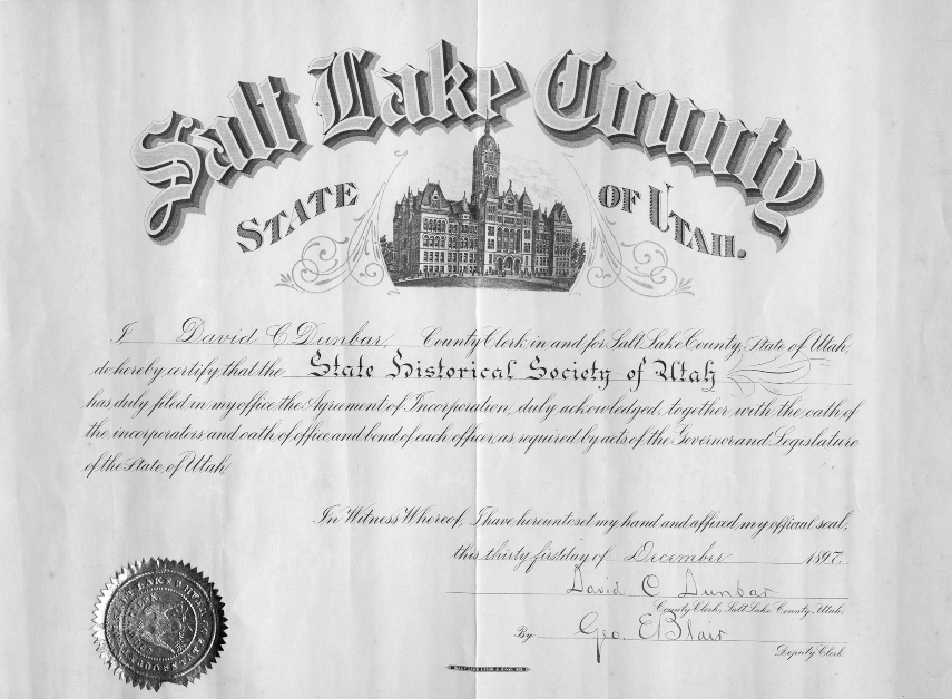 Utah State Official Document