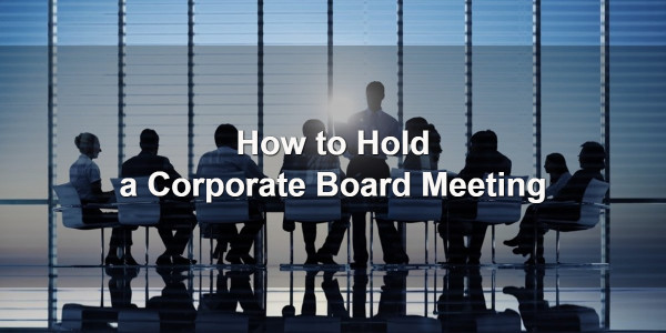 How to Hold a Corporate Board Meeting 1