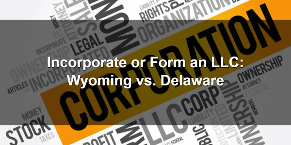 Incorporate or Form an LLC: Wyoming vs. Delaware 1